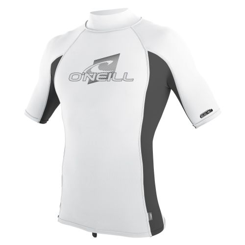 O'NEILL MENS RASH VEST.SKINS UPF50+ WHITE SUN PROTECTION TURTLENECK TOP 9S 17/FQ